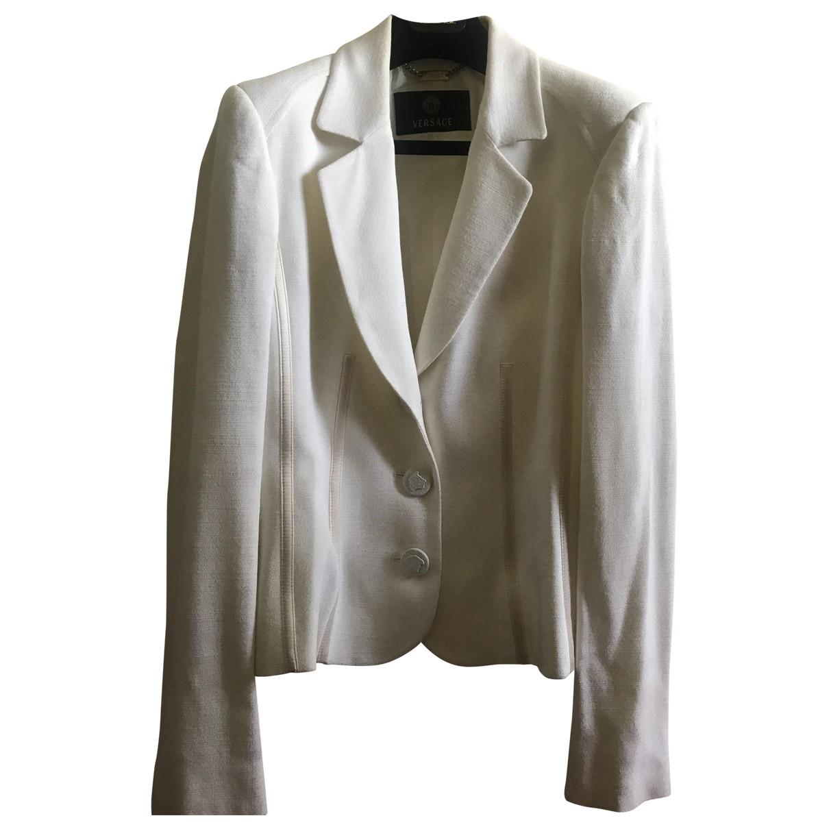 Gianni Versace \N White jacket for Women 46 IT