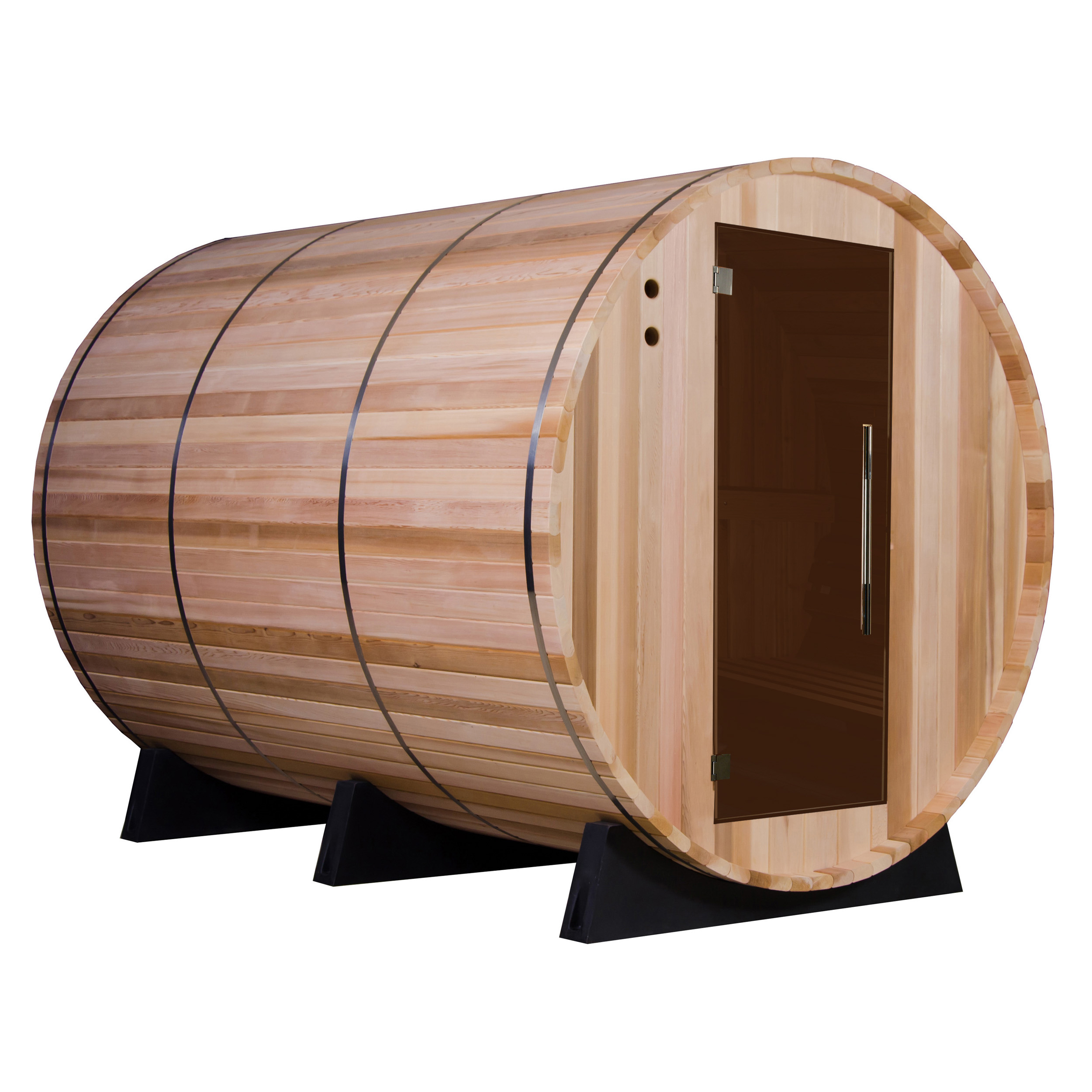 Princeton Electric Barrel Sauna in Clear Cedar