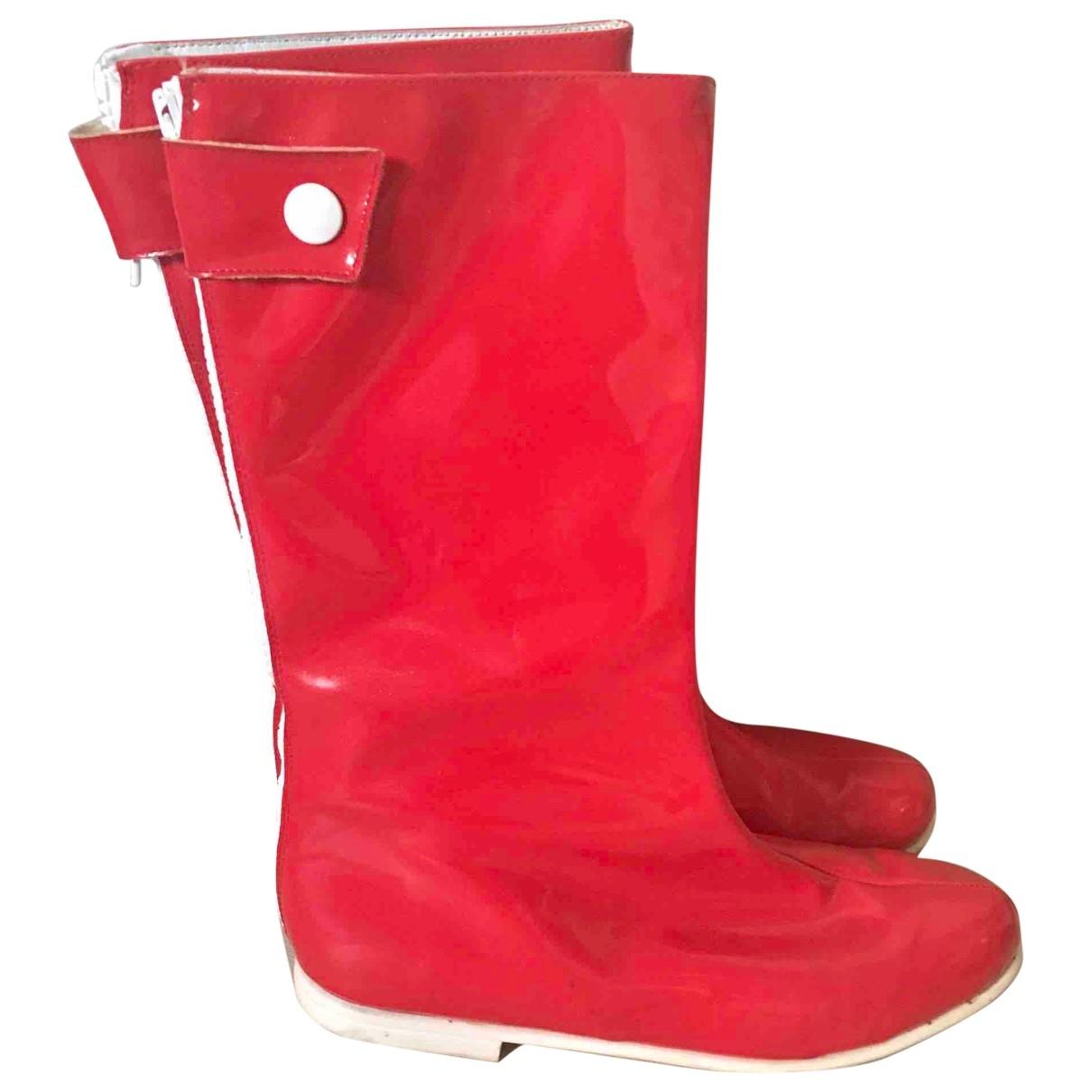 Courreges \N Stiefel in  Rot Leder