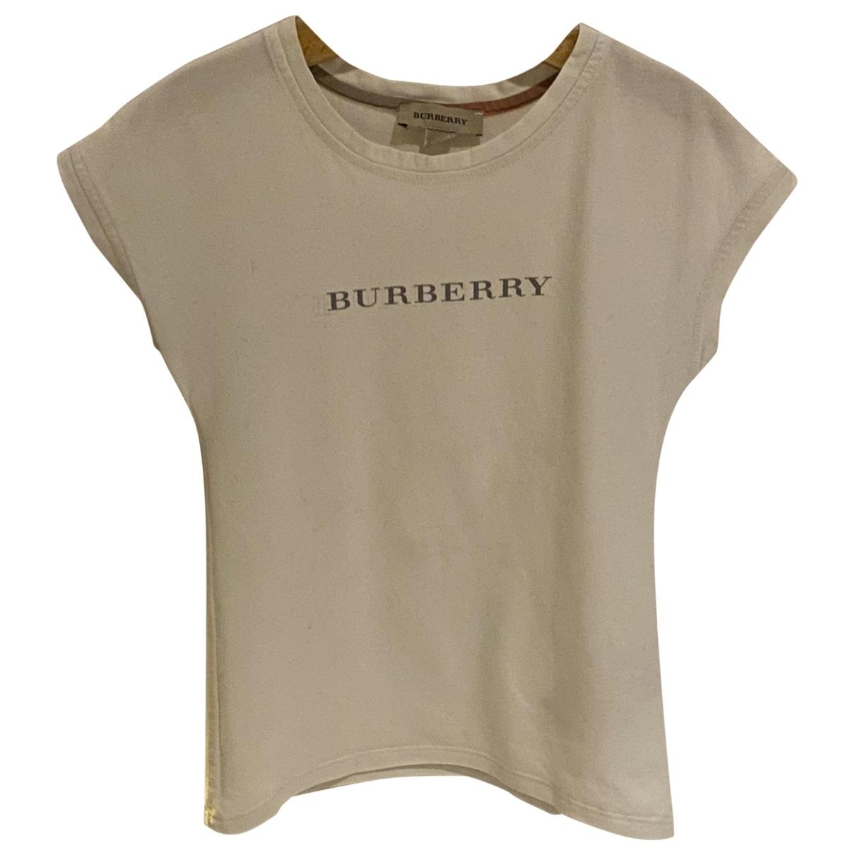 Burberry \N Oberteile in  Weiss Baumwolle