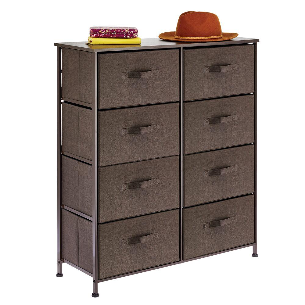 8 Drawer Fabric Dresser Storage Organizer in Espresso Brown, 11.8