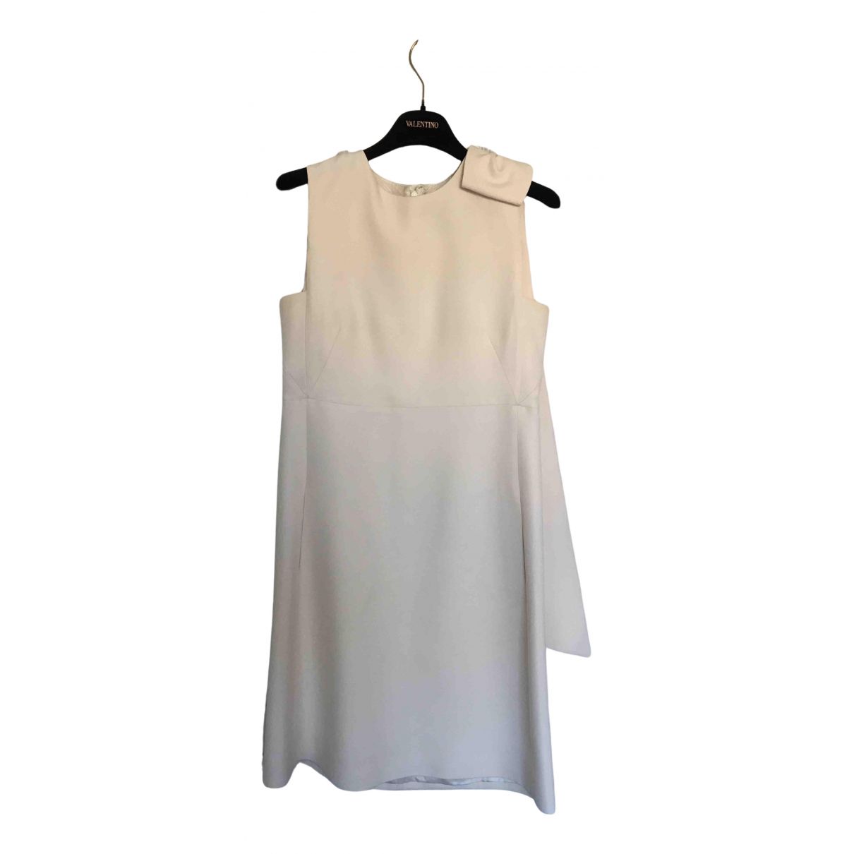 Valentino Garavani \N Kleid in  Ecru Wolle
