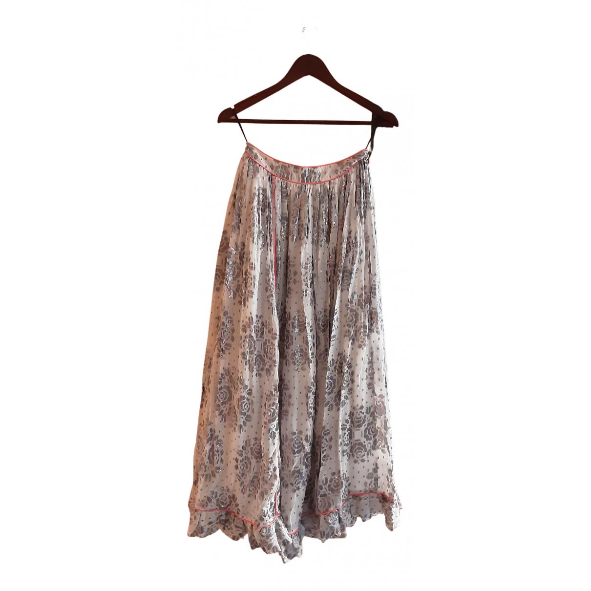 Manoush N Multicolour Silk skirt for Women 36 FR
