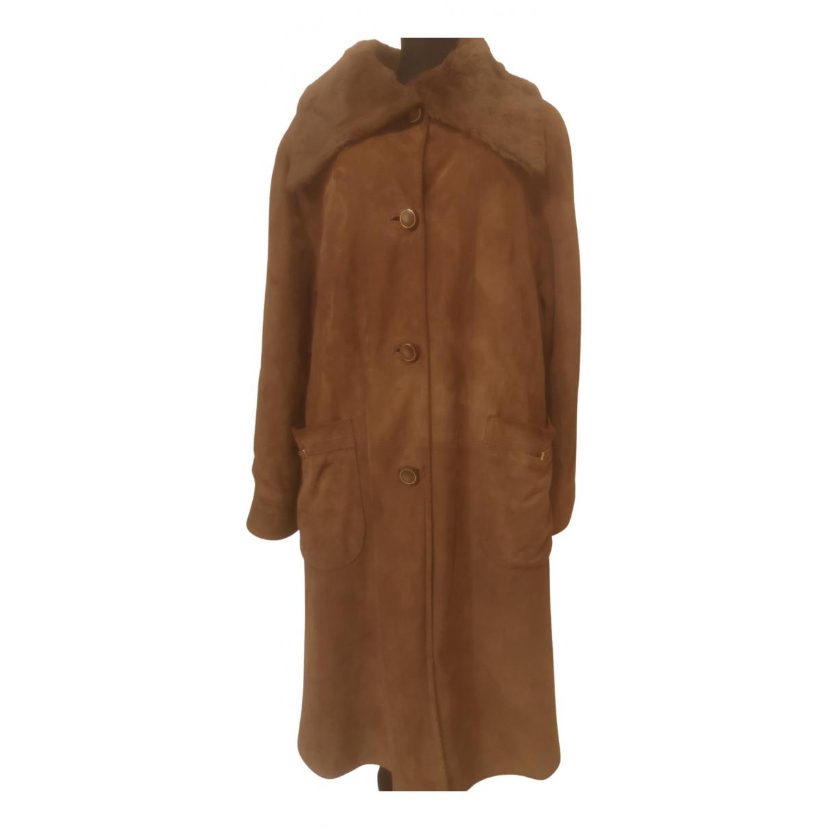 - Manteau   pour femme en fourrure - camel