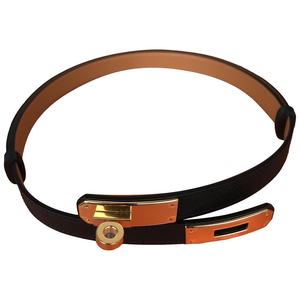 Hermès Kelly Black Leather belt for Women M International