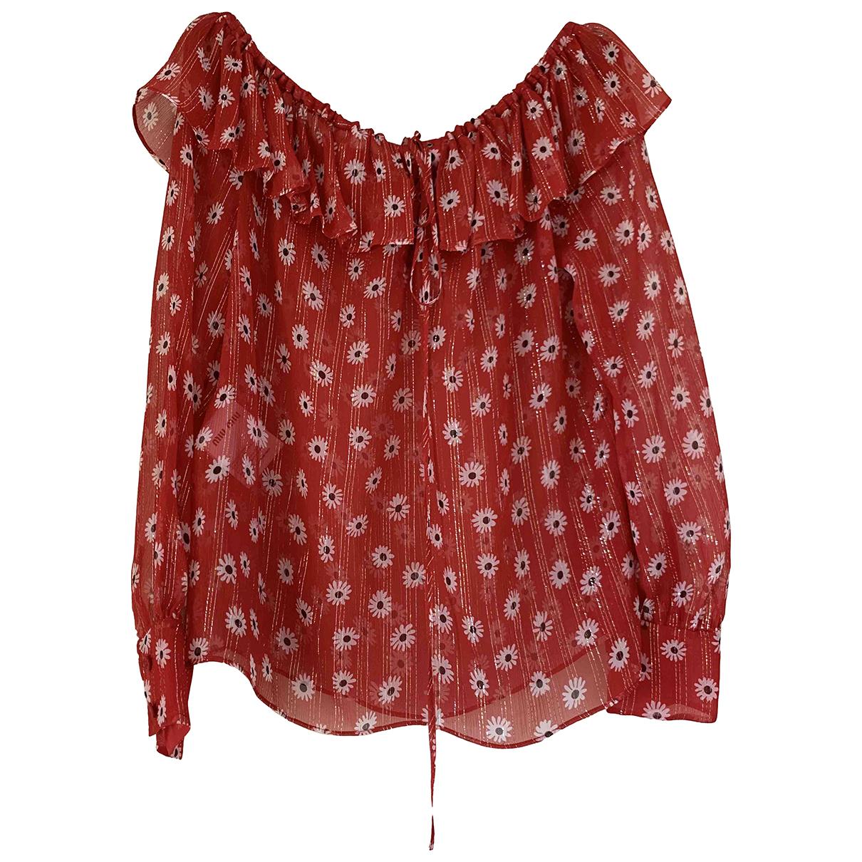 Miu Miu - Top   pour femme en soie - rouge