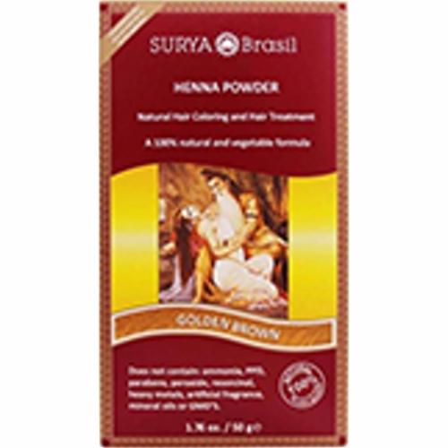 Henna Powder Golden Brown 1.7 Oz by Surya Brasil