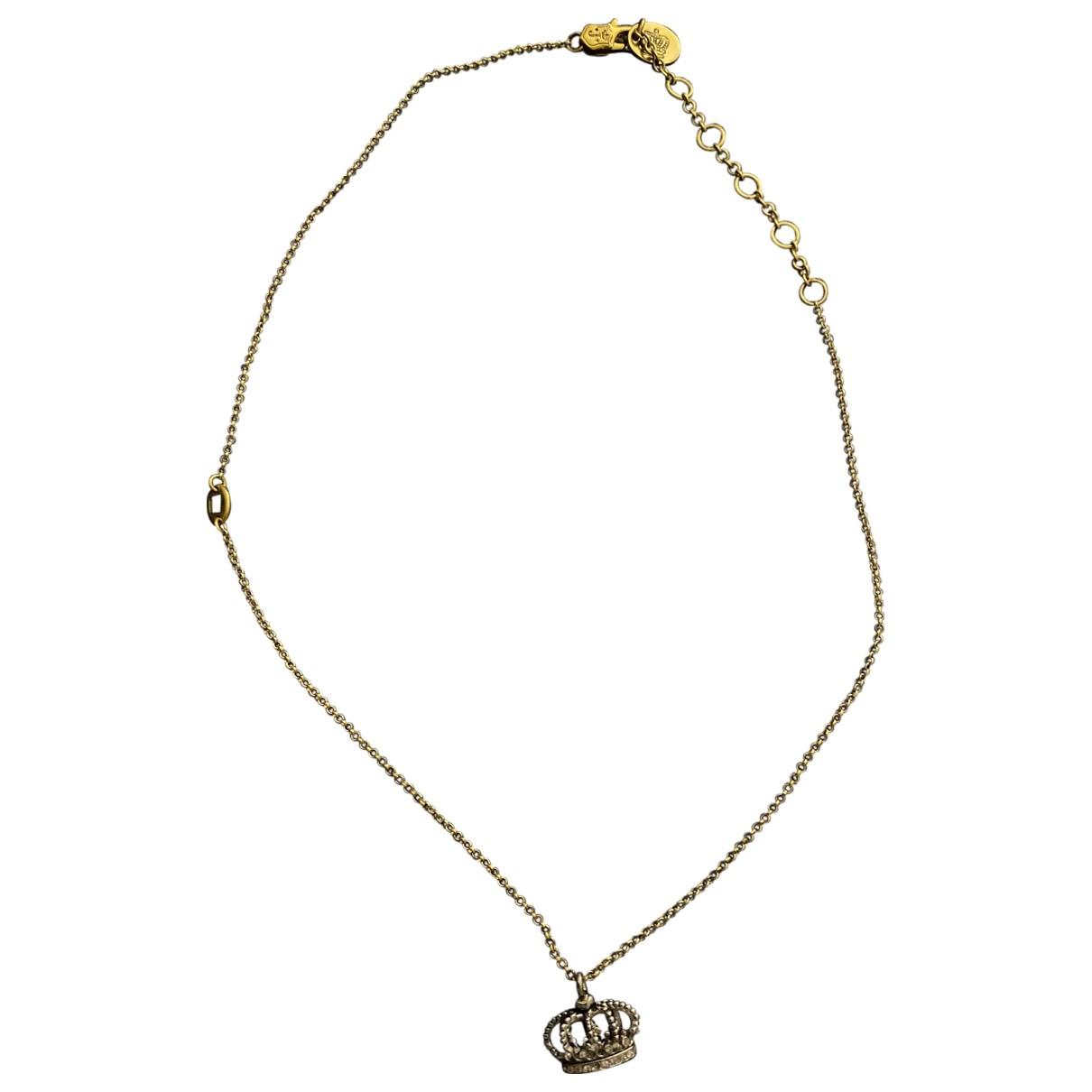 Juicy Couture - Collier   pour femme en acier - jaune