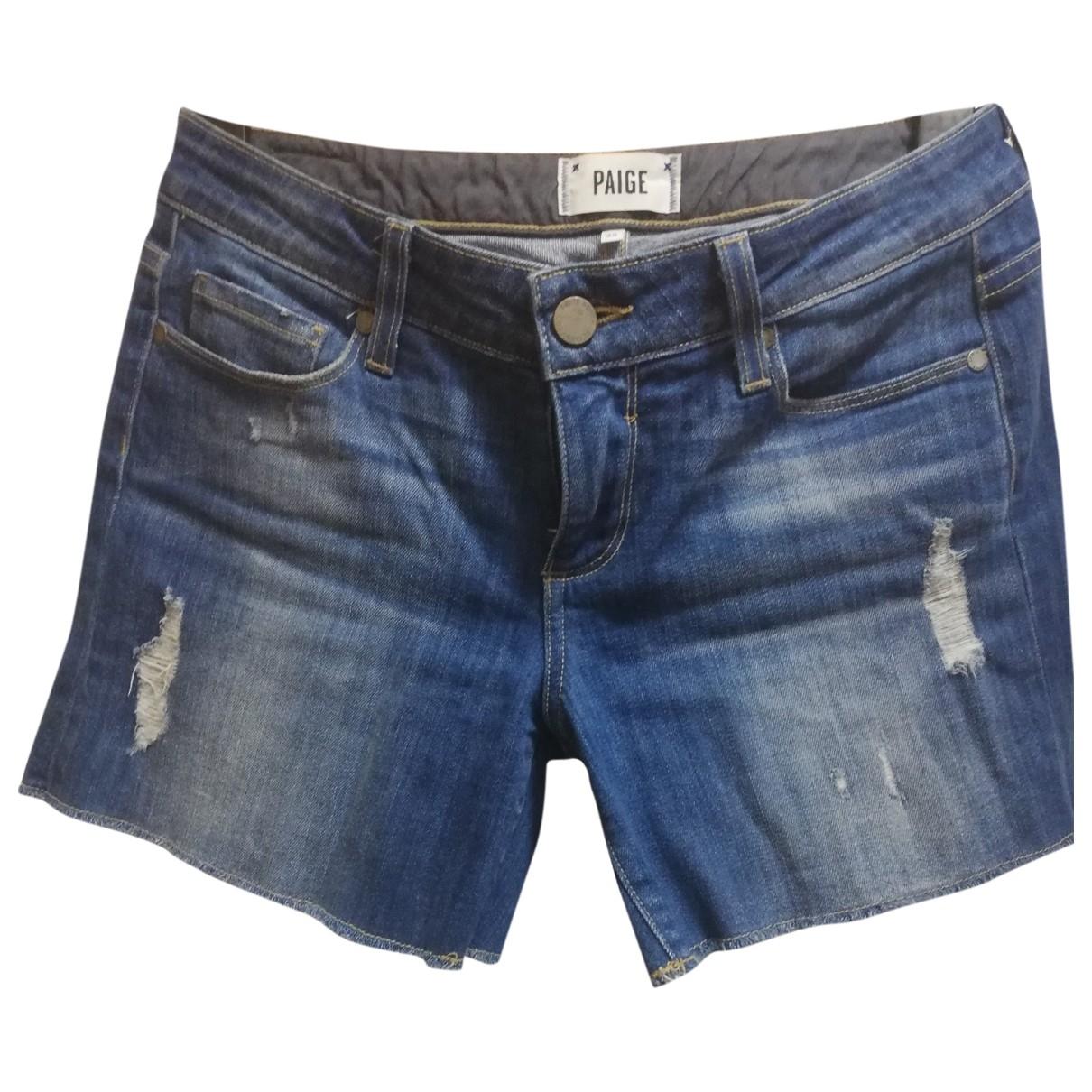 Paige Jeans \N Blue Denim - Jeans Shorts for Women 36 FR