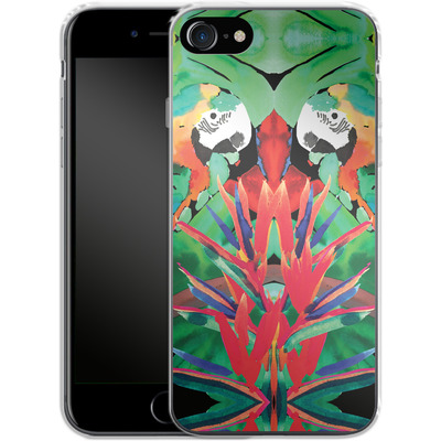 Apple iPhone 8 Silikon Handyhuelle - Parrot von Amy Sia