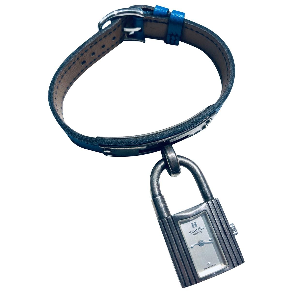 Hermes Kelly Uhr in  Silber Stahl