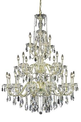 2016G36G/SS 2016 St. Francis Collection Hanging Fixture D36in H49in Lt: 12+8+4 Gold Finish (Swarovski Strass/Elements