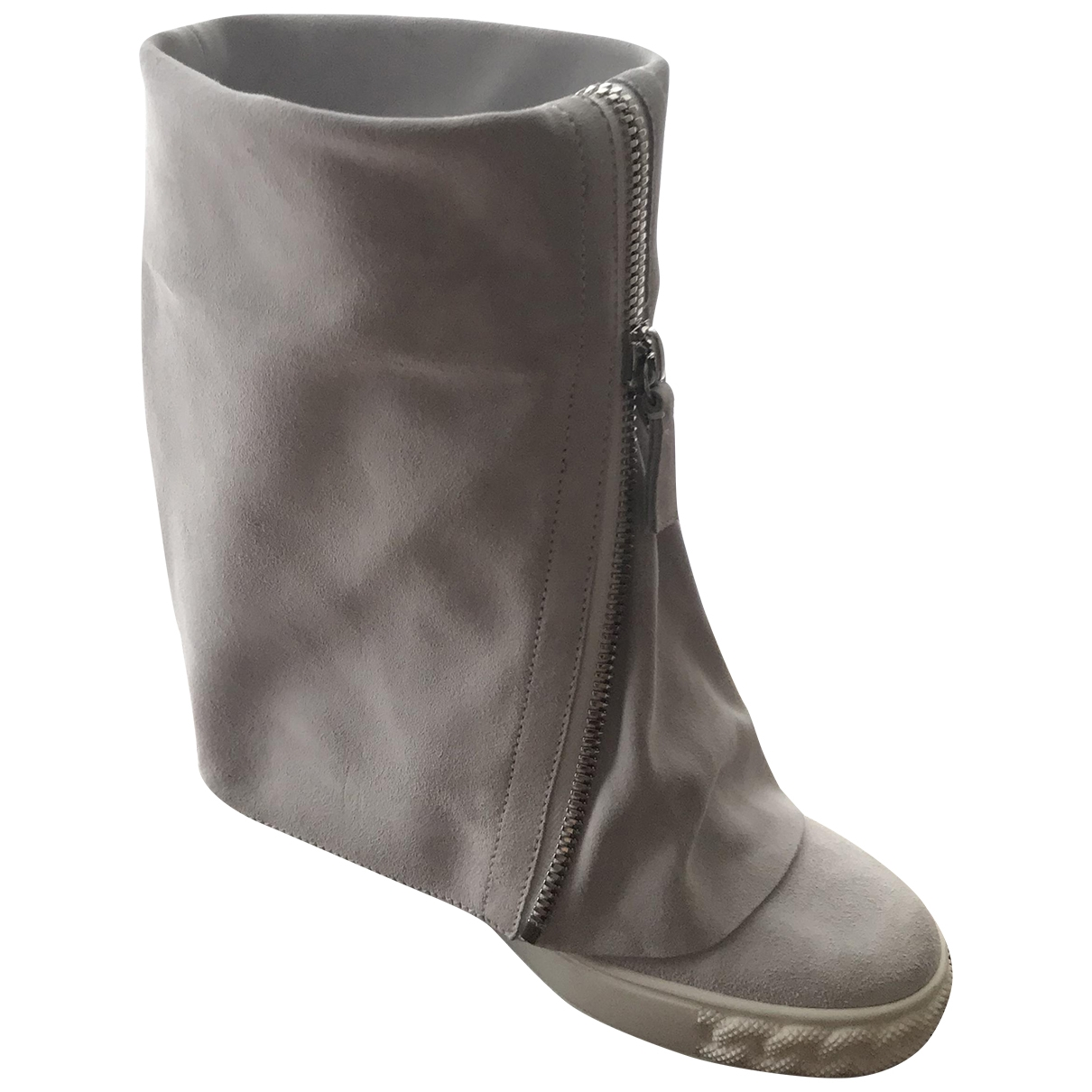 Casadei \N Grey Suede Ankle boots for Women 36 EU