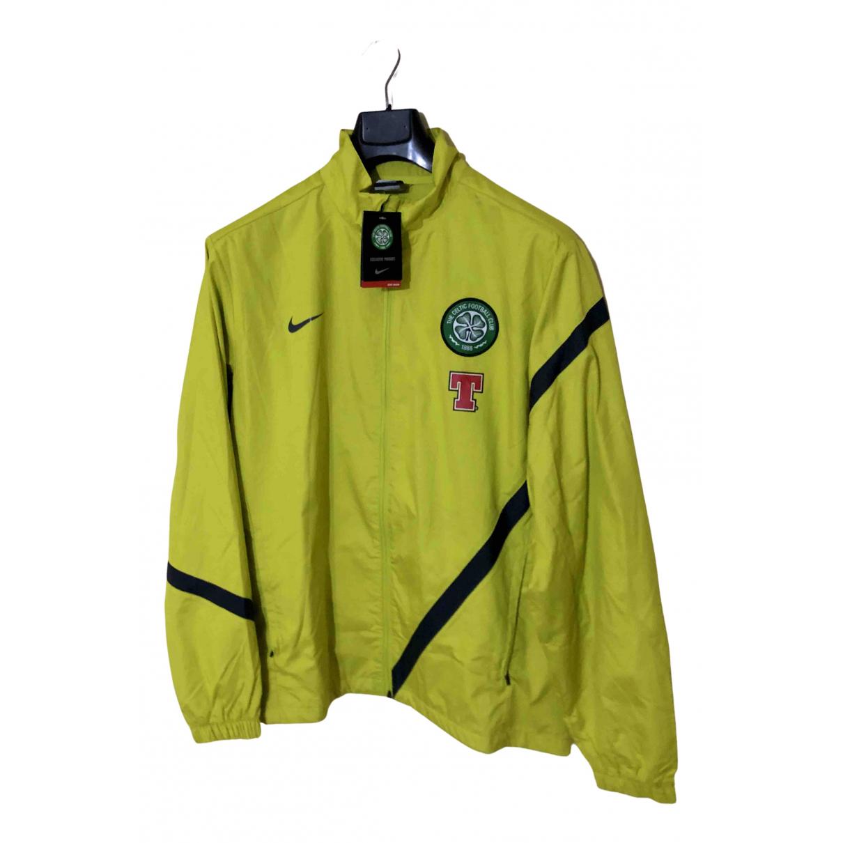 Nike \N Jacke in  Gelb Polyester