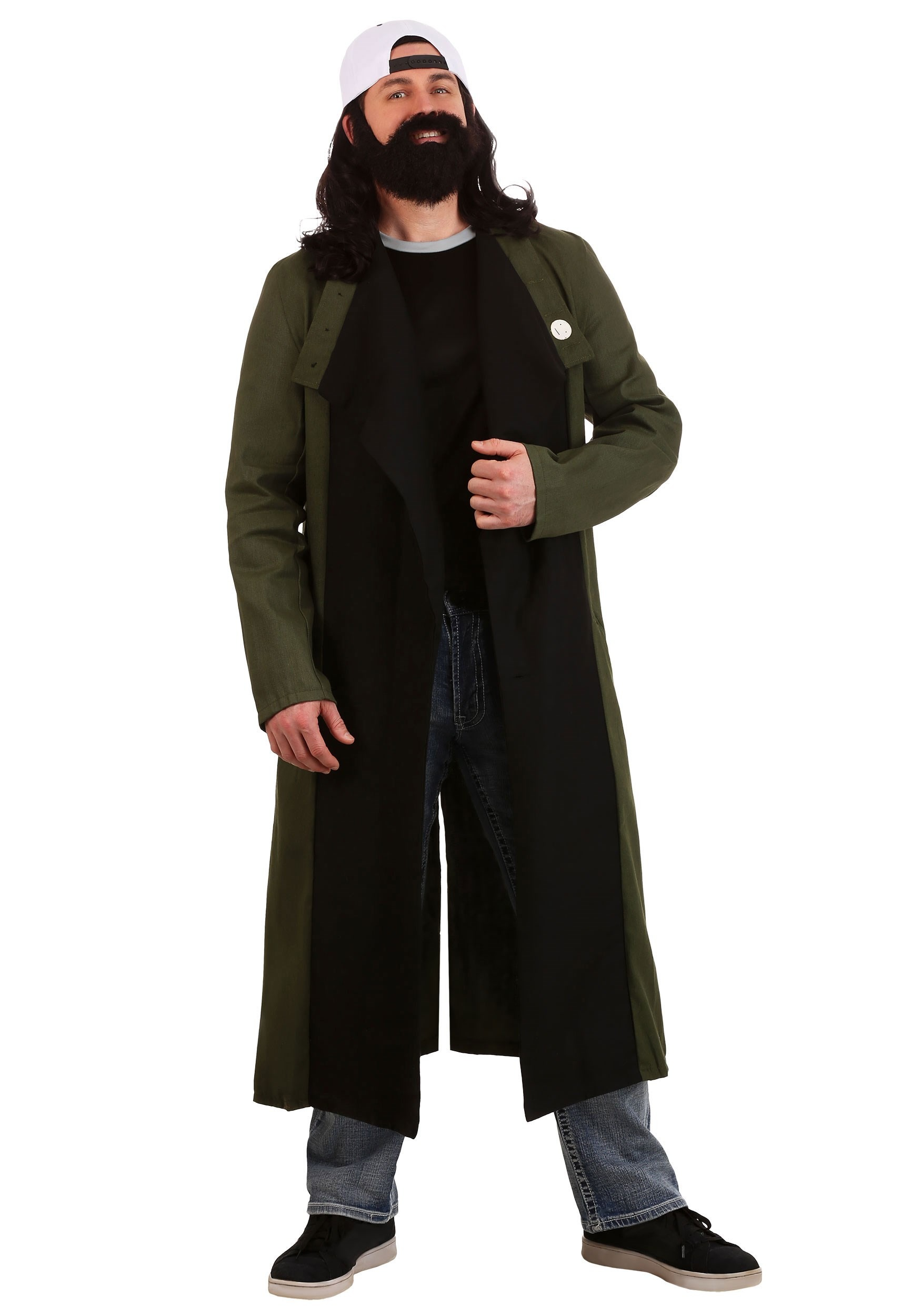 Jay and Silent Bob Silent Bob Costume for Plus Size   Officially licensed