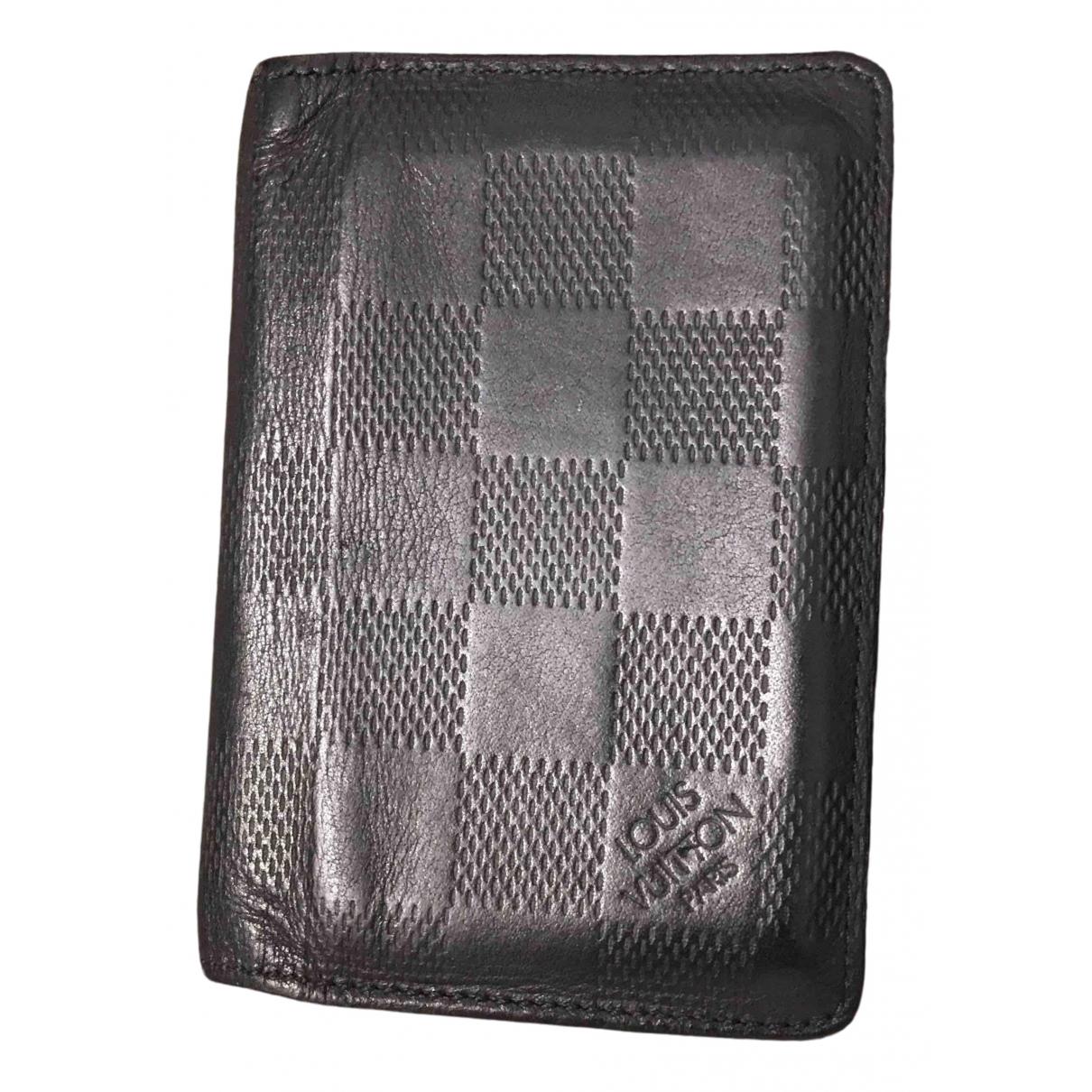 Louis Vuitton - Petite maroquinerie Pocket Organizer pour homme en cuir - noir