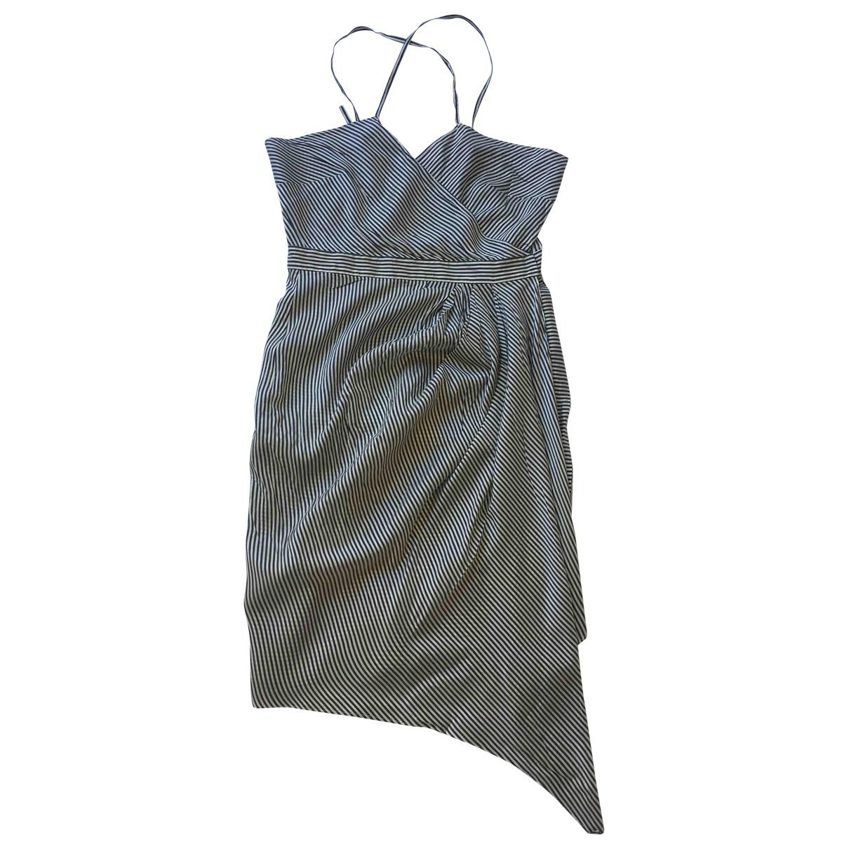 Cerruti \N Kleid in  Blau Seide
