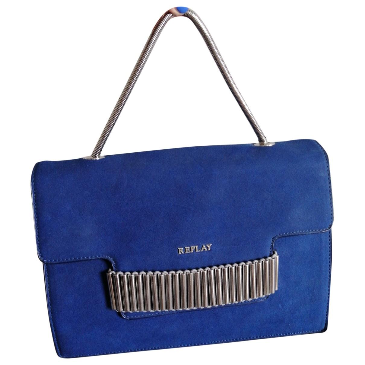 Replay \N Blue Suede handbag for Women \N
