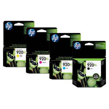 HP OfficeJet 6500A Original Ink Cartridges BK/C/M/Y Combo High Yield