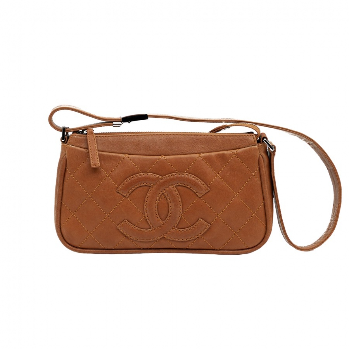 Chanel \N Clutch in  Braun Leder