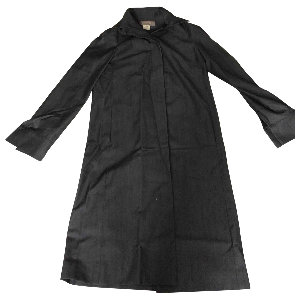 Lanvin - Manteau   pour femme en laine - gris