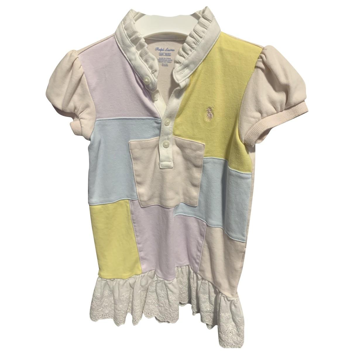 Ralph Lauren - Robe    pour enfant en coton - rose