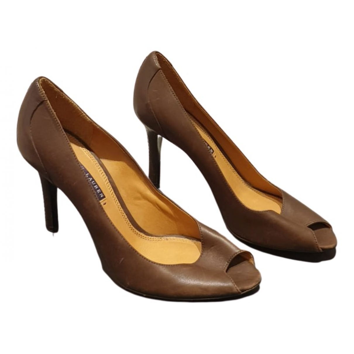 Ralph Lauren \N Pumps in  Braun Leder