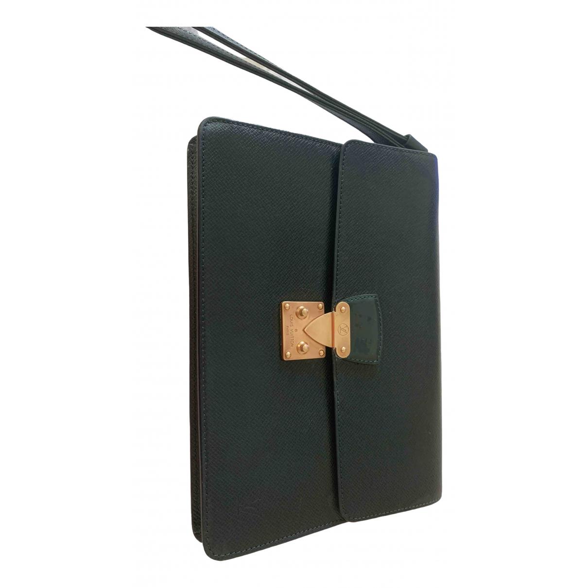 Louis Vuitton Kourad Green Leather Clutch bag for Women \N