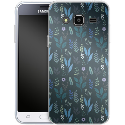 Samsung Galaxy J3 (2016) Silikon Handyhuelle - Blue Foliage von Iisa Monttinen