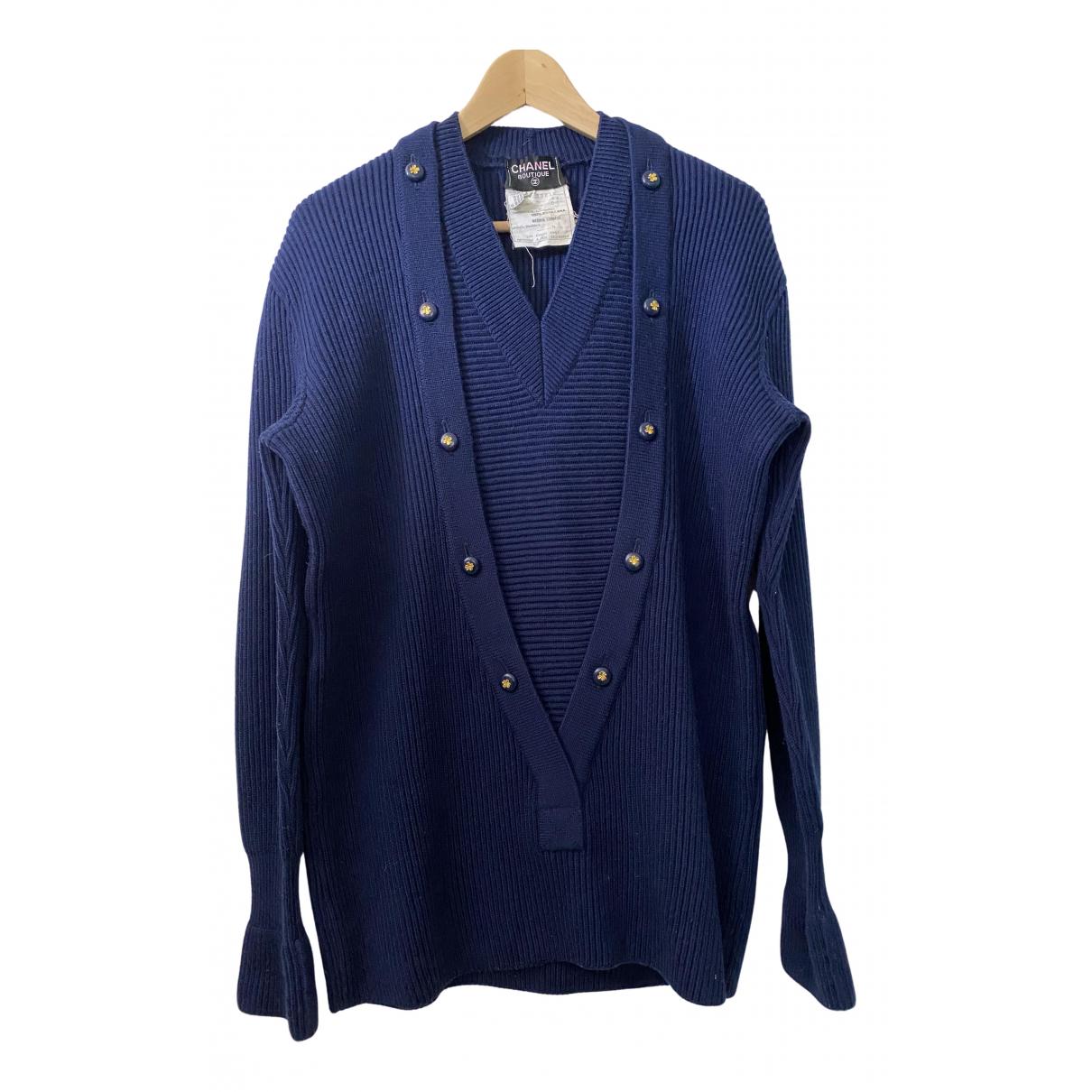 Chanel N Navy Wool Knitwear for Women 44 FR