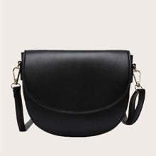 Minimalist Flap Saddle Bag