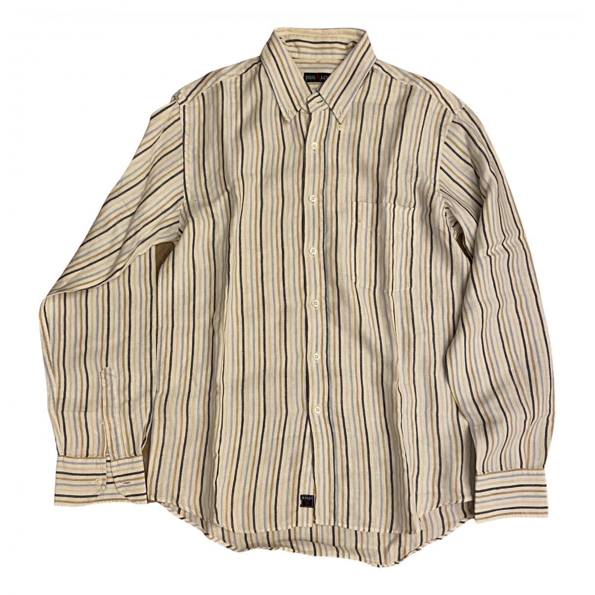 Boggi - Chemises   pour homme en lin - blanc