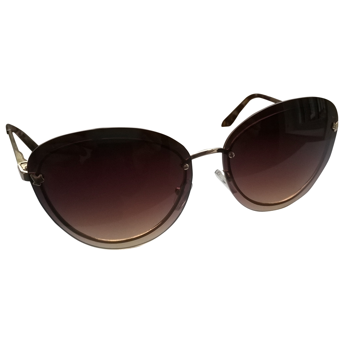 Non Signé / Unsigned \N Brown Metal Sunglasses for Women \N