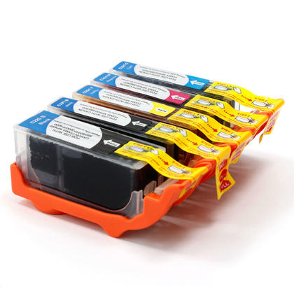 Compatible Canon IP4700 Ink Cartridges PGBK+BK/C/M/Y, 5 pack