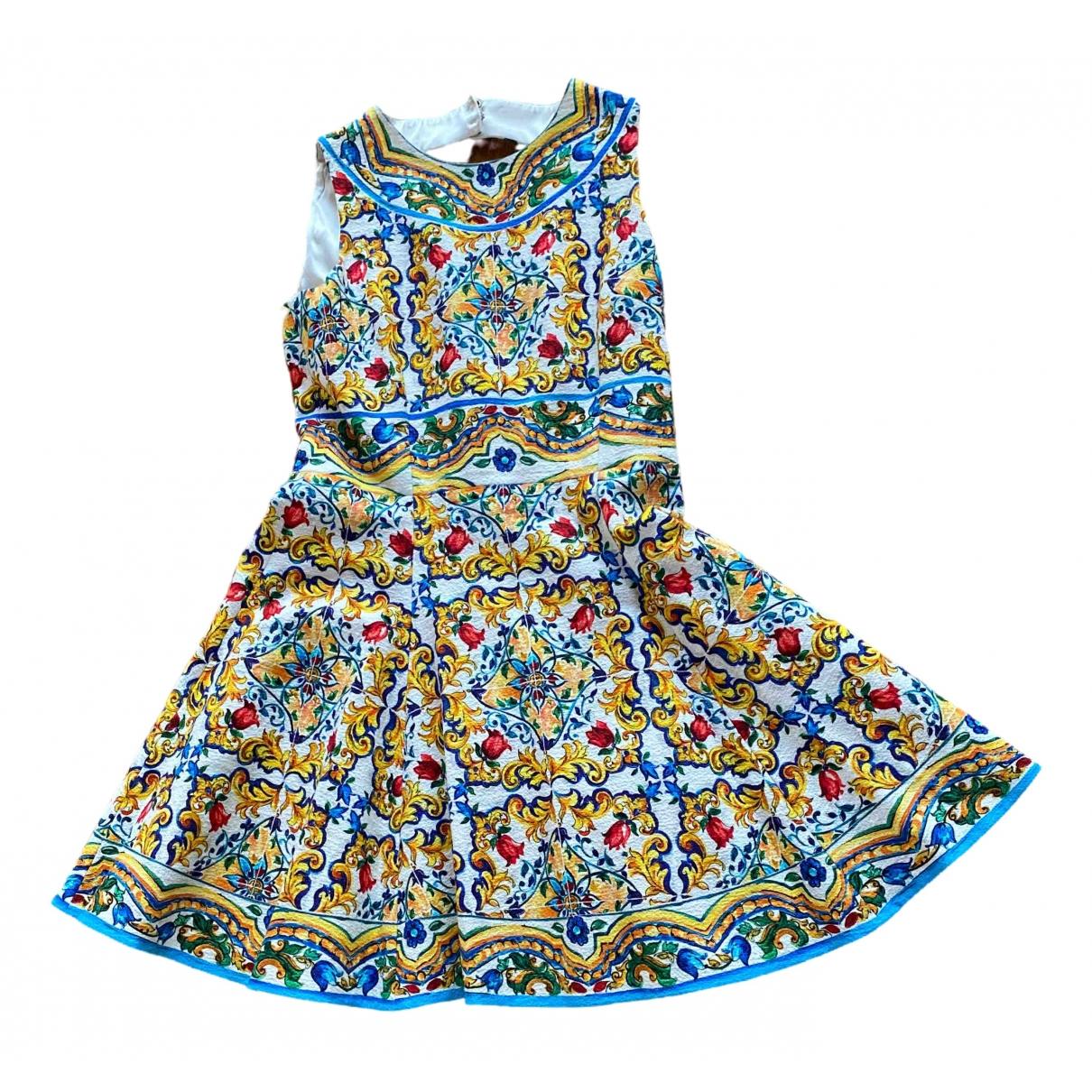 Dolce & Gabbana \N Multicolour Cotton dress for Women 44 IT