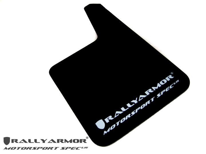 Rally Armor MF20-MSUR-BK/WH Universal Mspec Mud Flap Set Black w/White Logo