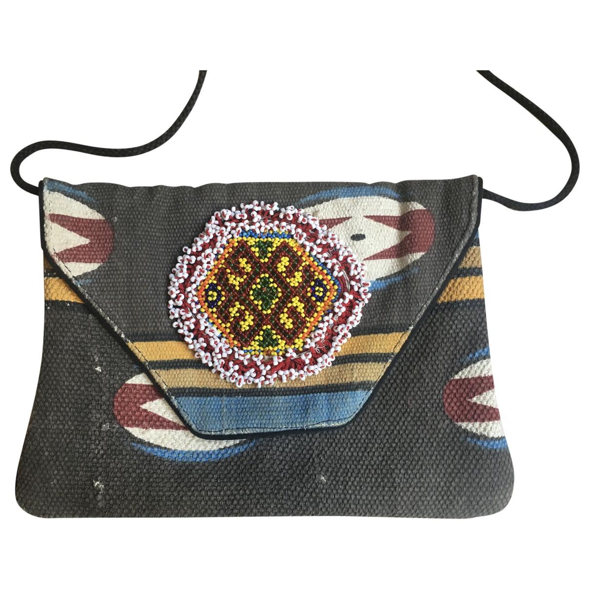 Bolsos clutch en Algodon Gris Antik Batik