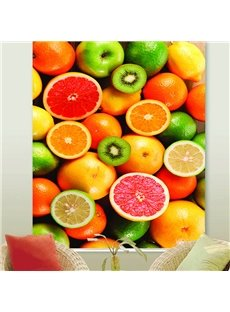 3D UV-Proof Blackout Thanksgiving Day Decorative Roller Shades with Colorful Fruits Pattern