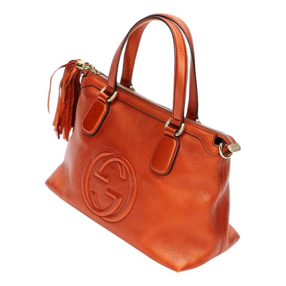 Gucci - Sac a main Soho pour femme en cuir - marron