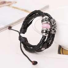 Hollow Out Metal Decor Bracelet