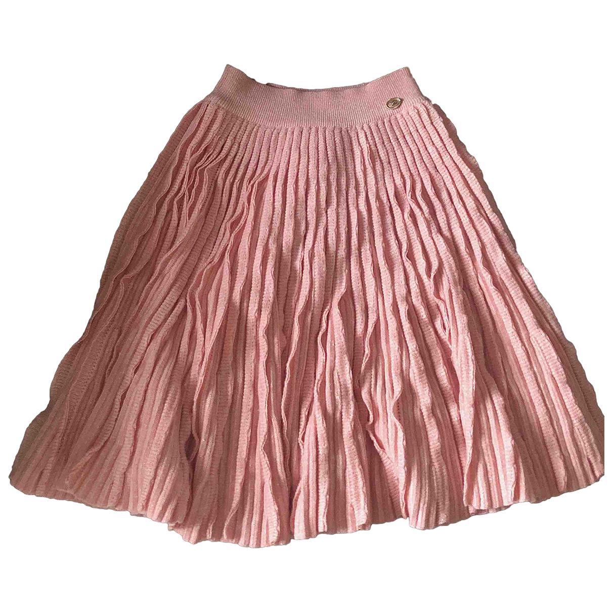Falda midi de Cachemira Chanel