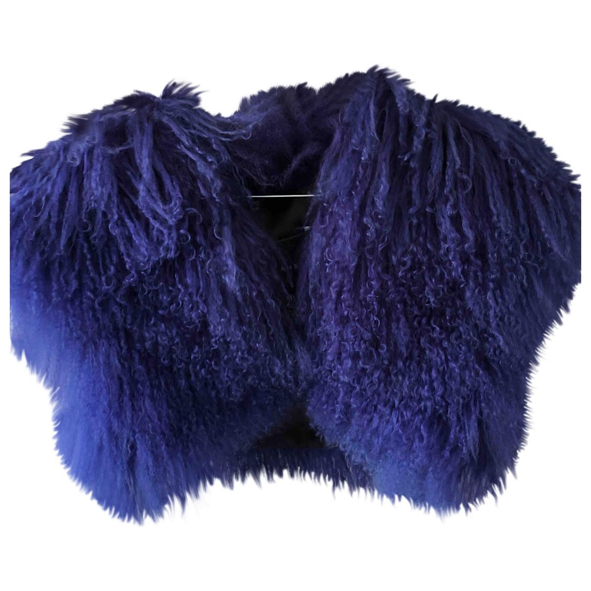 Jay Ahr \N Blue Mongolian Lamb jacket for Women 36 FR
