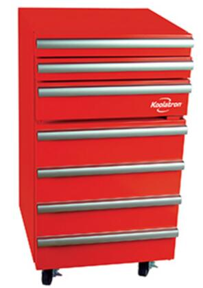 KTCF50 Koolatron Tool Chest Fridge with Stainless Steel Drawer Trim  Compressor Cooling  3 Sliding Tool Drawers and Adjustable Fridge