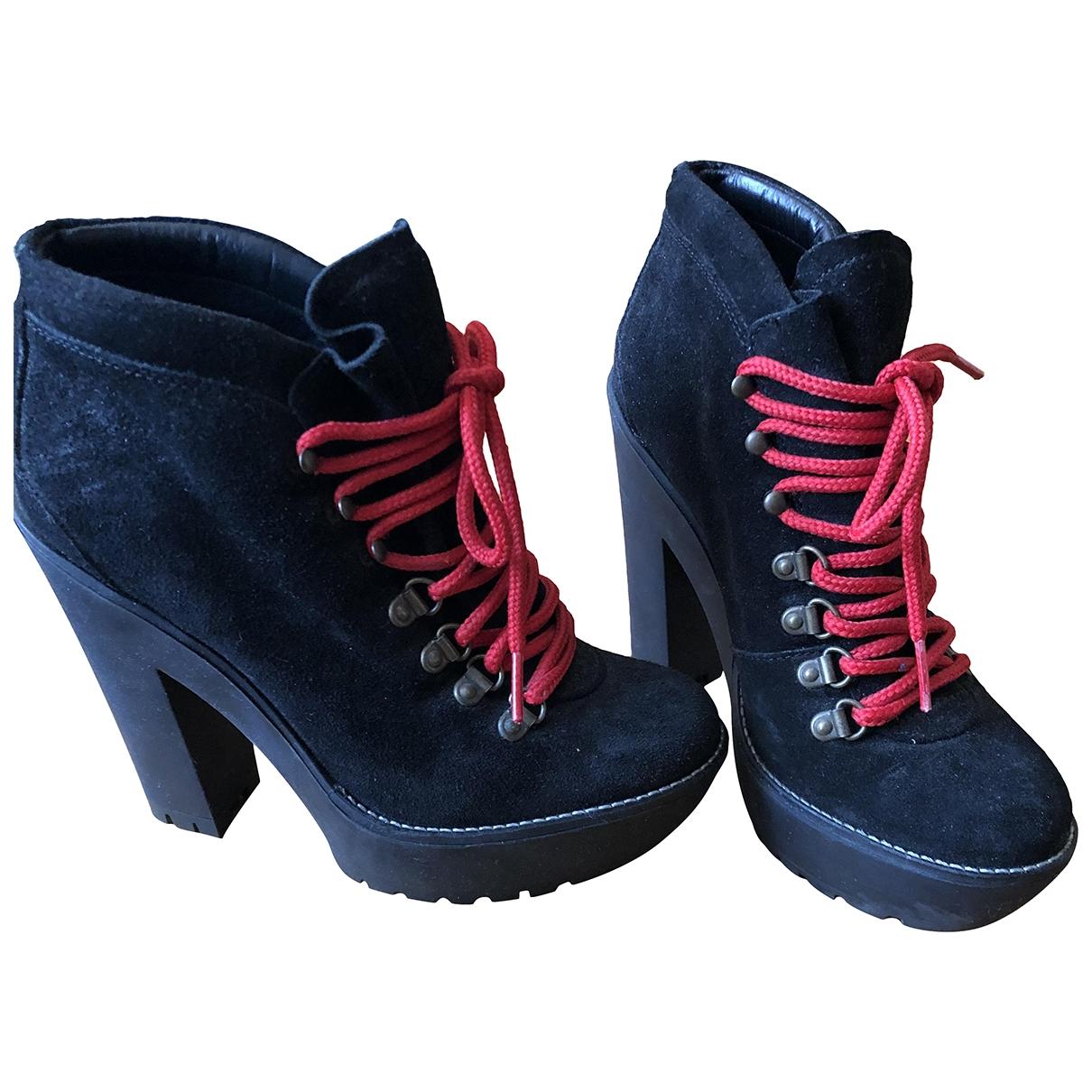Polo Ralph Lauren - Boots   pour femme en cuir - noir