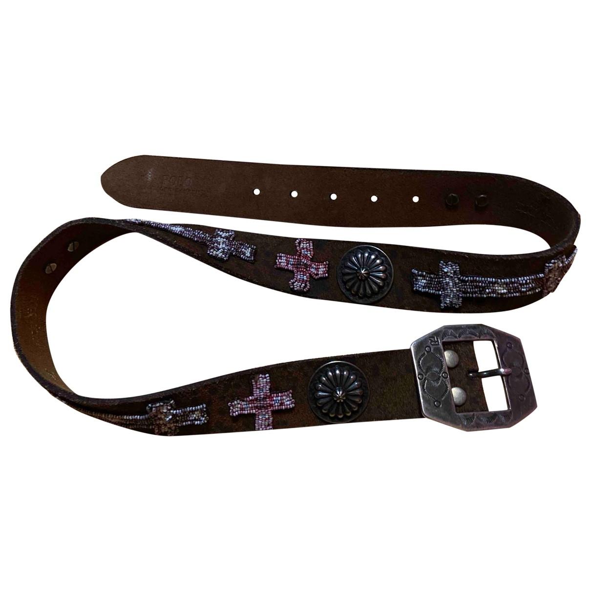 Ralph Lauren N Brown Leather belt for Women 80 cm