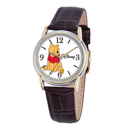 Disney Cardiff Womens Winnie the Pooh Brown Leather Watch, One Size , No Color Family