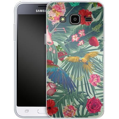 Samsung Galaxy J3 (2016) Silikon Handyhuelle - Tropic Fun von Mark Ashkenazi