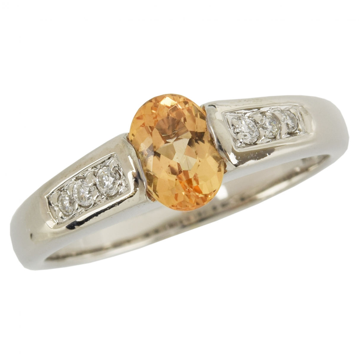 Non Signé / Unsigned \N Orange White gold ring for Women 8 ¾ US