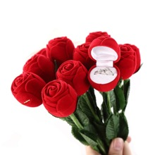 1pc Rose Shaped Ring Storage Box