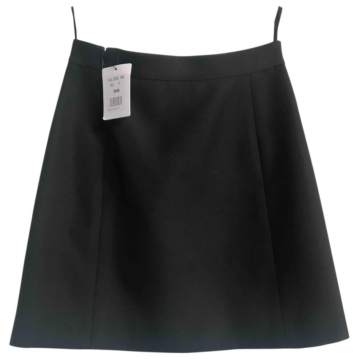 Celine N Black Wool skirt for Women 36 FR
